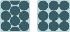 ハニカムと垂直格子の比較