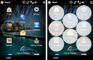 Windows Mobile 6.5のホーム画面