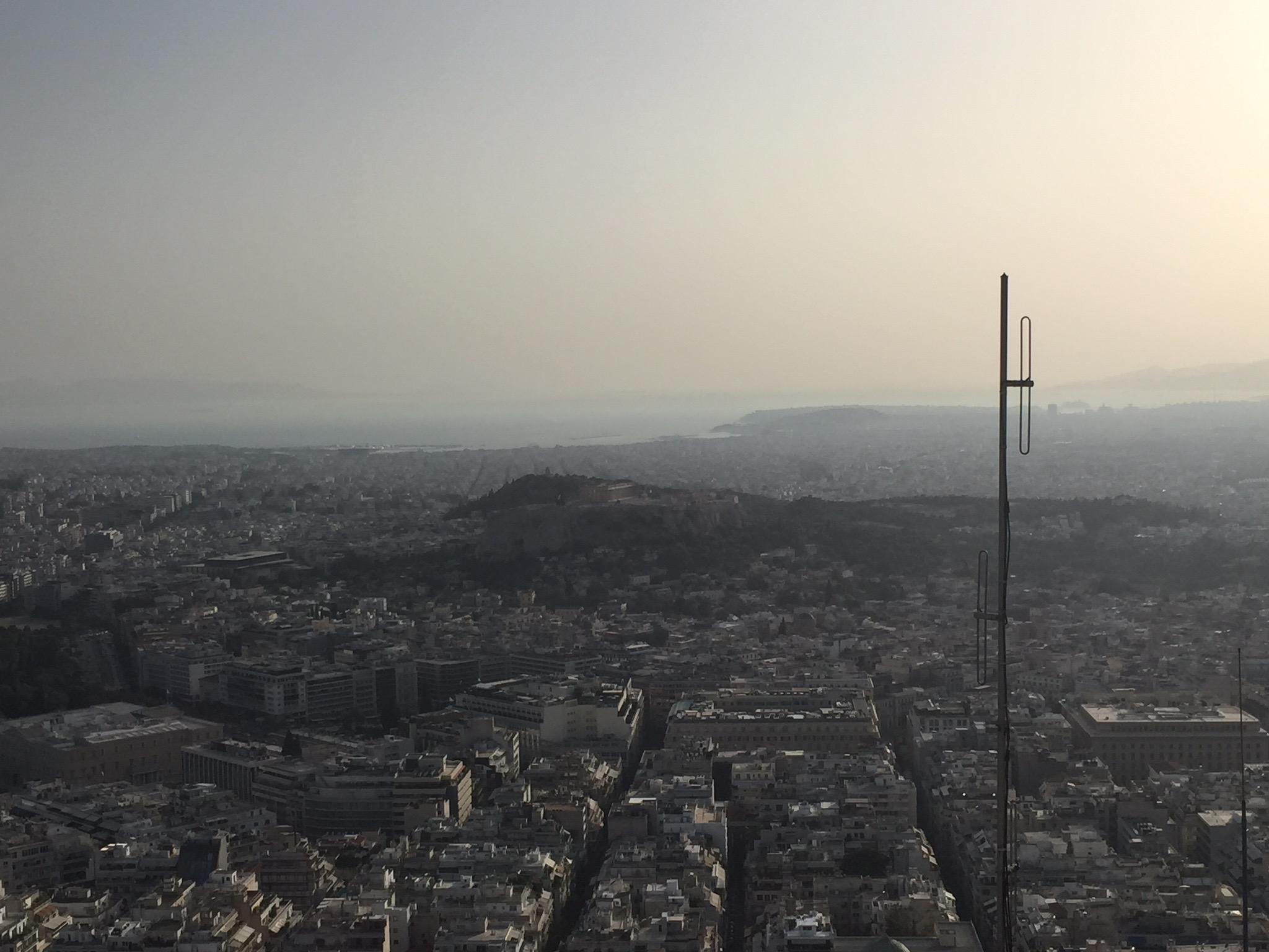 アテネ、リュカヴィトスの丘からの眺め
