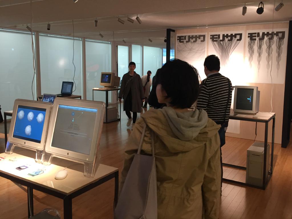 「デジタルメディアと日本のグラフィックデザイン」展 会場風景